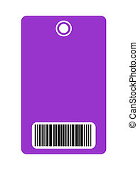 Blank security pass with bar code - Closeup of blank...