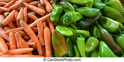 Ripe paprika in a market for sale - Picture of a Ripe...