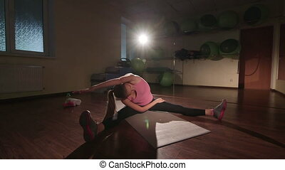 Stretching routine for flexibility at the end of workout in...