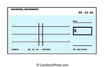 Blank English CheCK - Blank English Cheque illustration with...