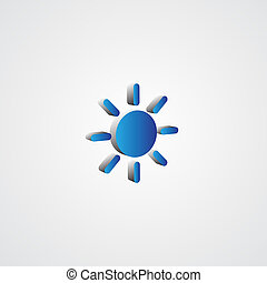 Blue 3d Sun illustration