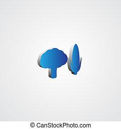 Blue 3d Vegetables illustration