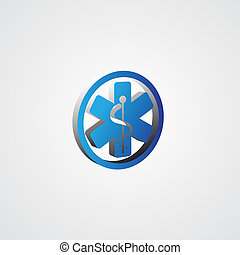 Blue 3d Medical Symbol illustration