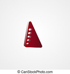 Set Square Red 3d illustration