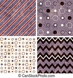Chevron and polka dot patterns