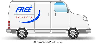 Delivery van - Vector Delivery Van. Gradient Mesh Used