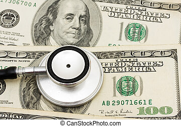 Increasing health care costs - A stethoscope on a money...
