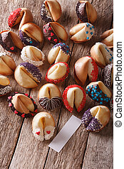 Festive Fortune Cookies decorated with candy sprinkles....