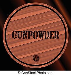 Gunpowder Keg - A keg of gunpowder with the name branded