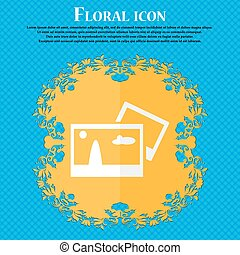 Copy File JPG sign icon. Download image file symbol. Floral...