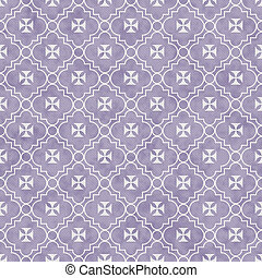 Purple and White Maltese Cross Symbol Tile Pattern Repeat...