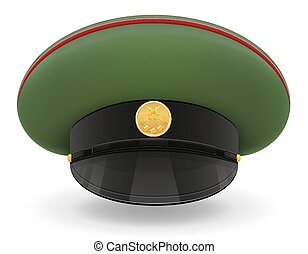 professional uniform cap or military vector illustration...