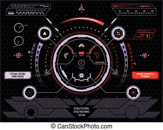 Futuristic touch screen user interface HUD - Abstract...