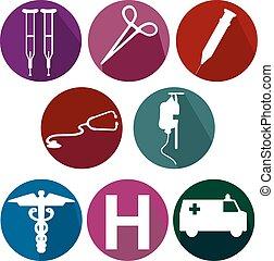 Medical flat icons - Medical flat icon set