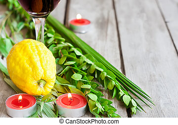 Symbols of Sukkot - Symbols of jewish fall festival of...