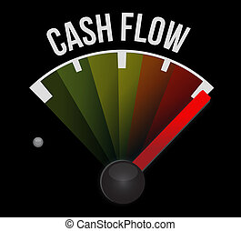 cash flow meter sign concept illustration design graphic...