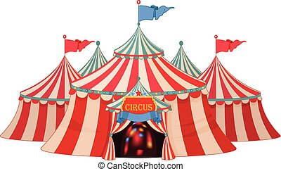 Circus - Illustration of circus marquee