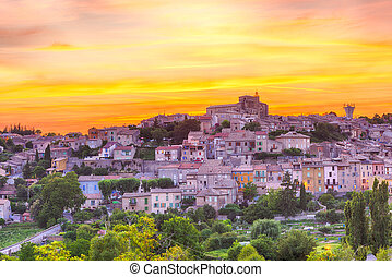 Valensole - Beautiful small town of Valensole at sunset...