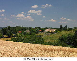 landscape - Black Perigord, Qurecy, in Southwest of France