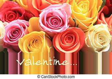 valentine roses - Ready made valentine rose greeting card