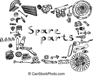 aftermarket spare parts - spare parts car shop auto...