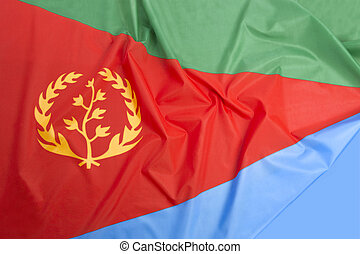 Eritrea flag as a background