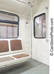 subway carriages - The image of empty subway carriages