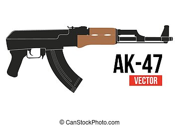 Russian rifle AK47 - Russian automatic machine rifle AK 47...