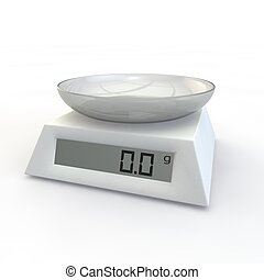 Kitchen scales with glass cup - Kitchen Scale with a glass...