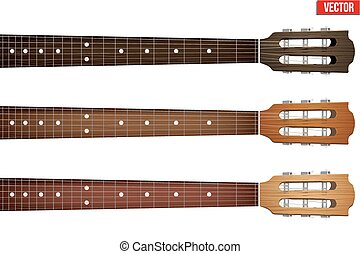 Set of Guitar neck fretboard and headstock - Set of Classic...