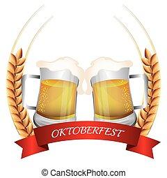 Germany cultures and oktober fest design.