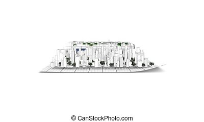 City building from plan - City building from architectural...