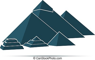 pyramid monument construction Cairo Giza Egypt - Five...