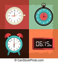 Time clock vintage design.