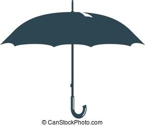 umbrella rain drops water