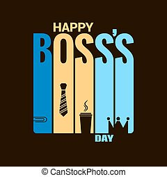 boss day holiday design vector background 8 eps