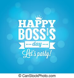boss day party card design vector background 10 eps