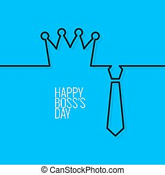 boss day continuous line vector background 10 eps