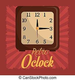 Time clock vintage design