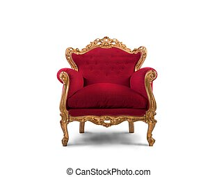Red and gold luxury armchair - Concept of luxury and success...