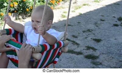 Happy Child Playing at Playground,