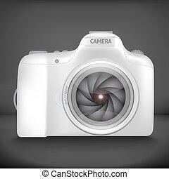 vector illustration of camera - Black vector illustration of...