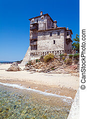 Phospfori tower in Ouranopolis, Mount Athos