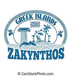 Zakynthos stamp - Greek Islands, Zakynthos, stamp or label...