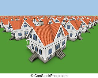 houses - Area of new family homes