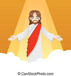 Jesus Christ on The Clouds - Ascension of Jesus Christ with...