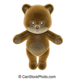 Teddy bear Isolated on white 3d render