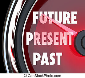 Future Present Past Speedometer Words Predict Whats Coming Next