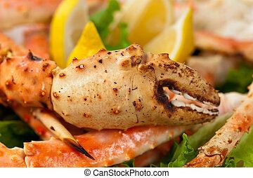 Crab Legs - Snow Crab Legs Selective focus