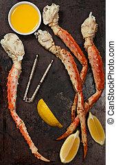 Crab Legs - Snow Crab Legs. Selective focus.